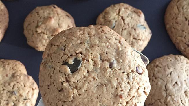 Les cookies bio sarrasin-coco-choco vegan