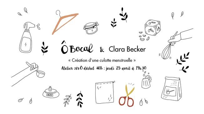 Atelier zérÔ déchet #16 : Création d'une culotte menstruelle