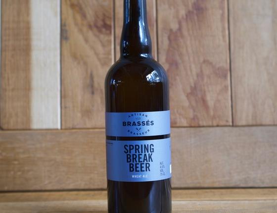 "Bière brasserie Les Brassés ""Spring Break Beer"" 75cl bio & locale"
