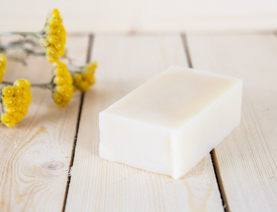 Savon crème artisanal local lin et miel