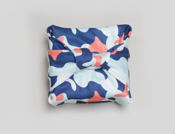 Furoshiki emballage cadeau réutilisable motif Camouflage