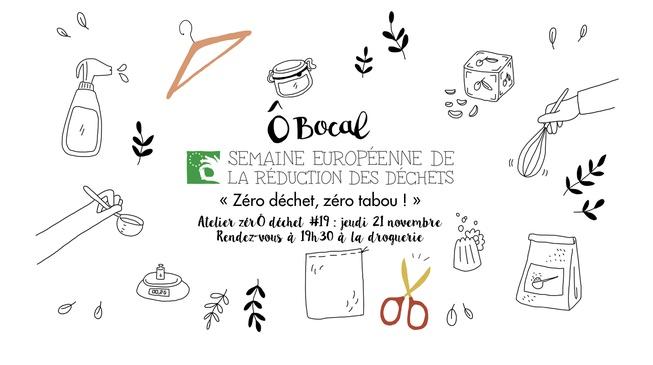 Atelier zérÔ déchet #19 : zéro déchet zéro tabou