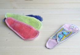 Protège-string lavable en coton velours