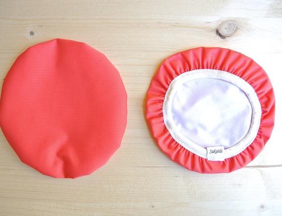 Couvre-plat 17 cm en tissu ciré magenta