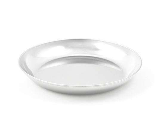 Assiette en inox petit modèle
