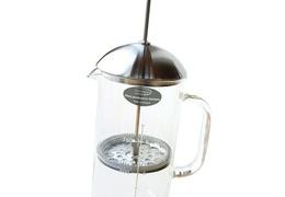 Cafetière à piston verre & inox