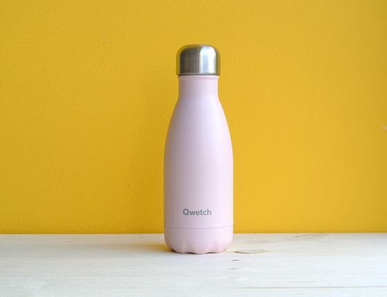 Bouteille inox 260 ml isotherme rose pastel