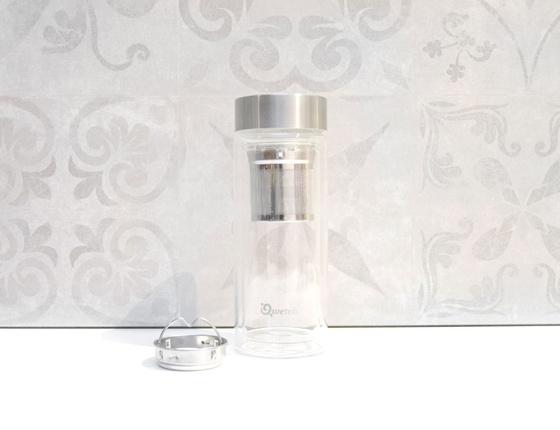 Théière isotherme en verre acier 320 ml