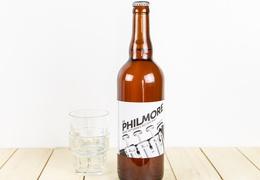 """Bière Brasserie Philmore """"blanche"""" 75cl bio & locale"""
