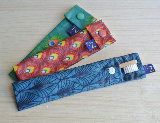Pochette de brosse à dents pour enfant en coton ciré