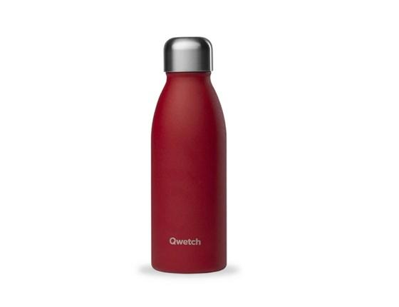 Bouteille inox 500 ml simple paroi granite rouge