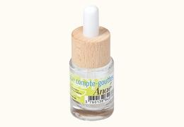 Flacon tube compte-gouttes en verre transparent  15 ml
