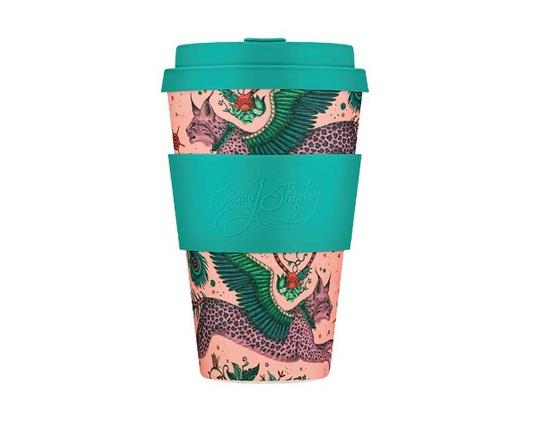 Tasse à café en bambou 400 ml motif Lynx