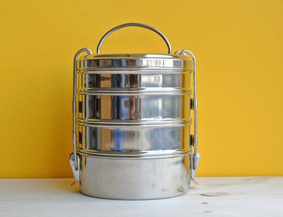 Boîte tiffin inox à 4 étages