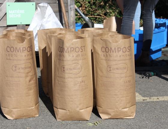 Sac de compost nantais par La Tricyclerie