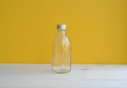 Flacon en verre transparent 250 ml