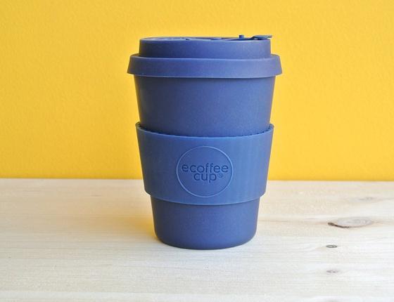 Tasse à café en bambou 350 ml coloris bleu marine