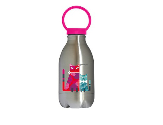 Gourde en inox 450ml Loopy chats