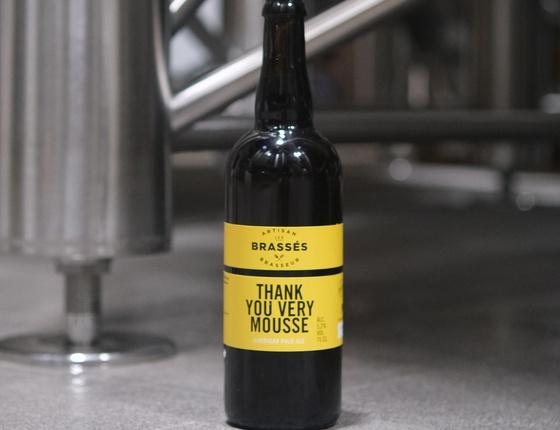 """Bière brasserie Les Brassés """"Thank you very mousse"""" 75cl bio & locale"""