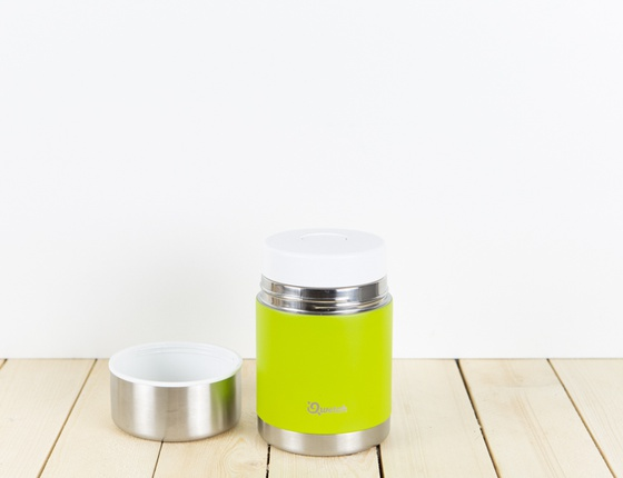 Lunch box isotherme double paroi Qwetch couleur vert anis