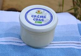Crème fraîche au lait cru de vache bio & local