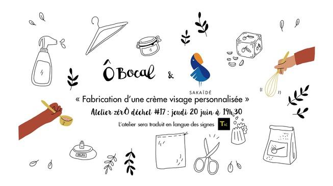 Atelier zérÔ déchet #17 traduit LSF : fabrication d'une crème visage