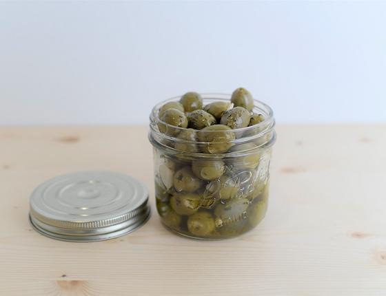 Olives vertes à l'ail bio
