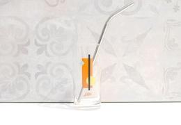 Paille en inox pour smoothie