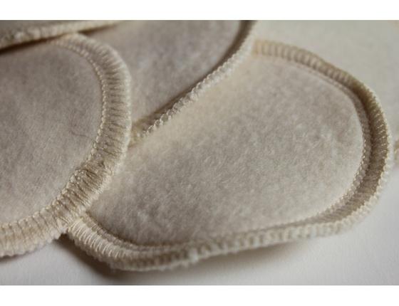 Disque de coton rond lavable bio