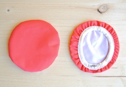 Couvre-plat 14 cm en tissu ciré rouge