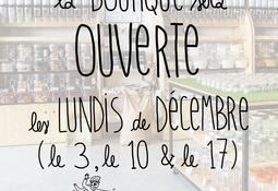 Ouverture les lundis en décembre !