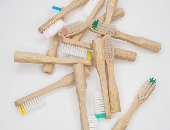 Lot de 2 têtes de brosse à dents rechargeables en bambou - poils médium transparents