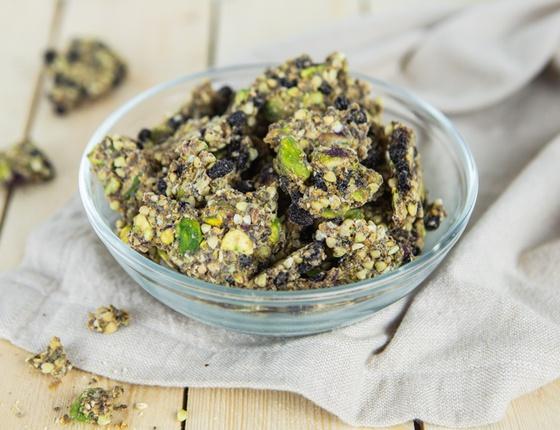 Apéro raisins-pistaches bio