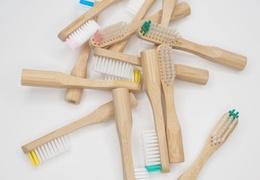 Lot de 2 têtes de brosse à dents rechargeables en bambou - poils souples transparents