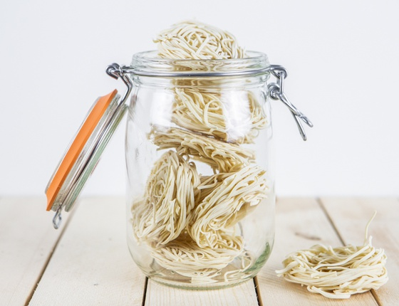 Pâtes bio type spaghettis en nids