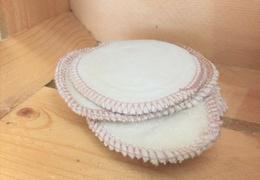 Disque de coton lavable double face bio