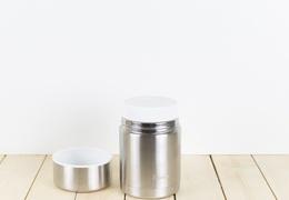Lunch box isotherme double paroi Qwetch couleur acier