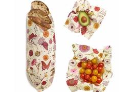 Emballage à la cire végétale : lot de 3 tailles S-M-L