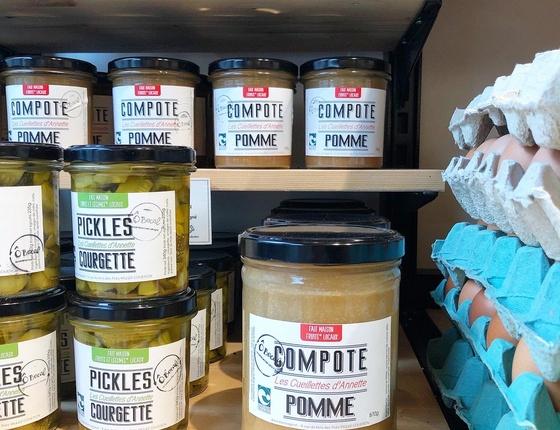 Compote de pomme bio & locale - format familial