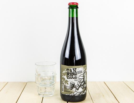"""Bière Brasserie San Roce """"brune"""" 75cl bio & locale"""