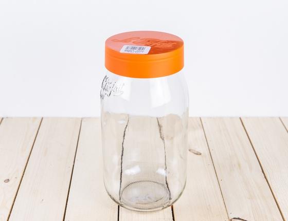Bocal Le Parfait à vis orange 1 litre