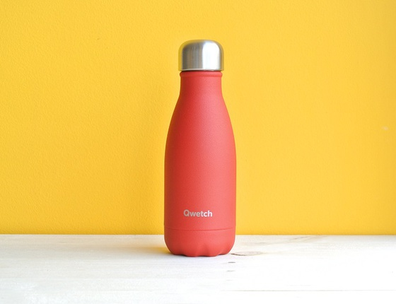 Bouteille inox 260 ml isotherme granite rouge