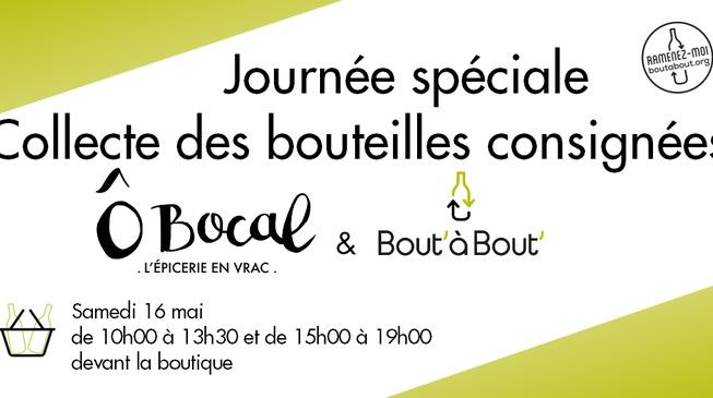 BIG collecte des bouteilles consignées Bout' à Bout' chez Ô Bocal !