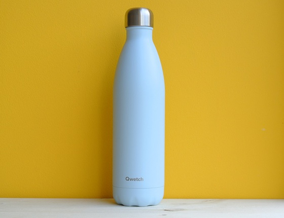 Bouteille inox 750 ml isotherme bleu pastel