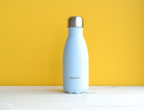 Bouteille inox 260 ml isotherme bleu pastel