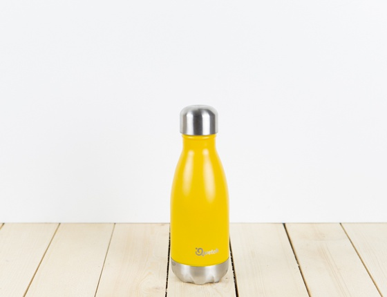 Bouteille inox 260 ml isotherme jaune