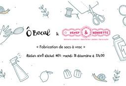 Atelier zérÔ déchet #14 : Fabrication de sacs à vrac