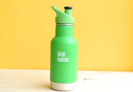 Bouteille inox 355 ml isotherme vert & son bouchon sport