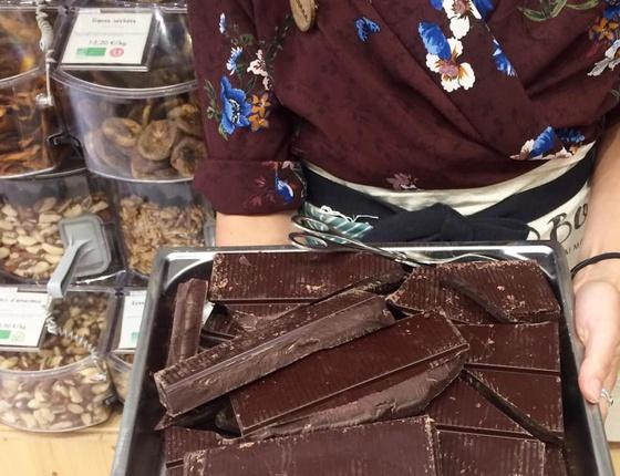 Chocolat noir de couverture