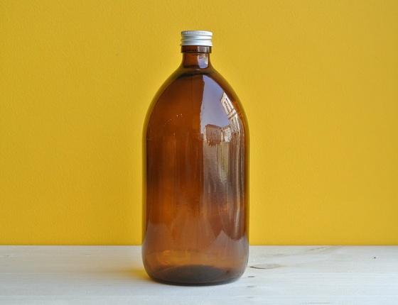 Flacon en verre teinté 1 litre
